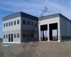 Быстровозводимое офисное здание с производственным корпусом