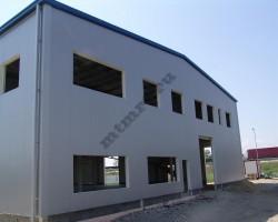 Двухэтажное быстровозводимое здание